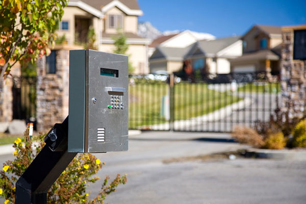 gated community entrance gate intercom